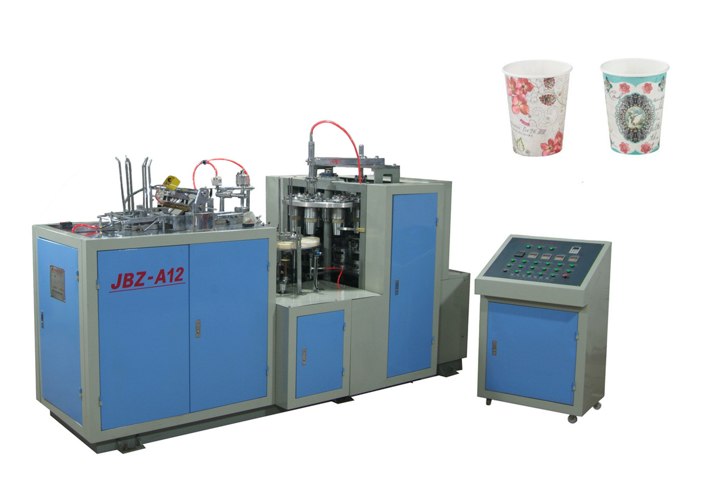 Professional Automatic Paper Cup Forming Machine Energy Saving  Speed 52 Pcs / Min